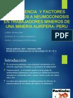 Revisión de articulo Silicosis en la empresa minera Retamas - Perú