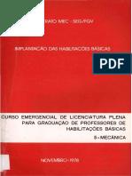 curso emergencial licenciatura plena mecânica 1978
