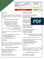 monitoria - lista 7 - trovadorismo