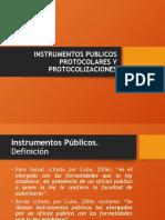 instrumentos protocolares y protocolización