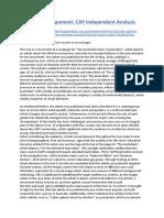 English Assignment- CAP Independent Analysis