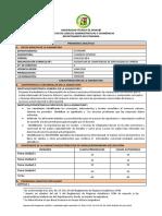 Programa Analitico Comercio Exterior Mayo - Septiembre 2016