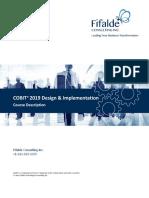 Cobit 2019 Design-Implementation Course Syllabus – New Look 2019 EN V1.0