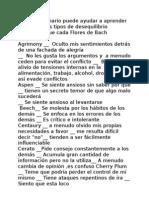 Cuestionario Flores de Bach Espanol
