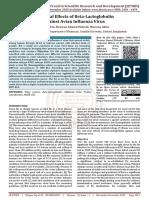 Antiviral Effects of Beta Lactoglobulin against Avian Influenza Virus