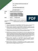 Anexo 3. Esquema  de Informe de Gestión Escolar Anual  de la IE a la UGEL