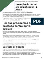 Circuito de proteção de curto _ sobrecarga do amplificador - 2 ideias discutidas _ Projetos de circuitos caseiros