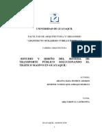 Estudio y diseño del sistema de transporte pùblico solucionando el tràfico masivo en Guayaquil.2019 (1)