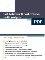 Lecture 4 -Cost Behavior and Cost-Volume-Profit Analysis (1)