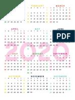 2020-2021 Monthly Planner Calendar