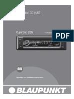 Blaupunkt-Cupertino-220-Owners-Manual