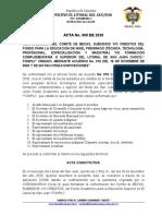 CREACIÓN COMITE 2020