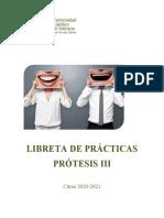 libreta prácticas prótesis III