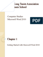 P4 Word 2010 (Ch 1-2)