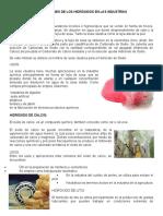 APLICACIONES DE LOS HIDRÓXIDOS EN LAS INDUSTRIAS