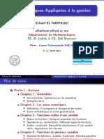 Cours 1 mathématiques appliquées à la gestion S1 2020-2021