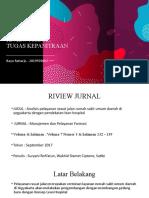 Riview Jurnal Tugas Kepanitraan Bayu Raharjo 2019970002