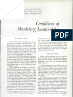 Conditions of marketing leadership