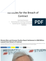 L11 Remedies for the Breach of Contract