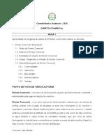 Direito Comercial AULAS 1,2 e 3