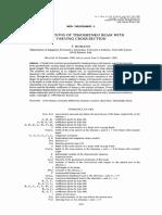 Deflections of Timoshenko beam with varying cross-section