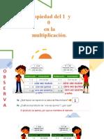 Propiedad de 1 y el 0 en la multiplicación