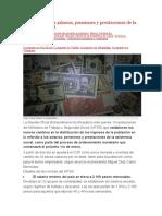 4 Nuevos SALARIOS PENSIONES Y PRESTACIONES DE LA ASISTENCIA SOCIAL