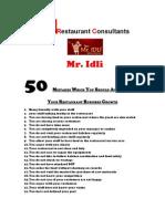 50 Restaurant Growth Mistakes