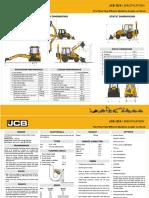JCB -backhoe loader Specification