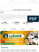 Plan Operativo Institucional - POI