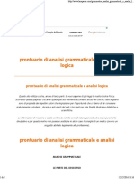 prontuario analisi logica e grammaticale