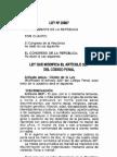 Ley 28867 2006