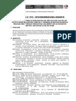 DIRECTIVA FINALIZACION 2018-UGEL HUARI