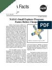 NASA Facts NASA's Small Explorer Program Faster Better Cheaper