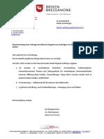 Beantwortung Anfrage Brixmedia GmbH