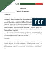TRABALHO DE SINALIZAÇÃO VIÁRIA
