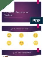 Expresión Emocional Verbal