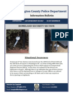 Arlington County Police Department Information Bulletin re IEDs