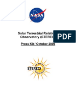 Solar Terrestrial Relations Observatory (Stereo) Press Kit