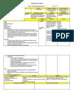 Planificacion Diaria con instrumento de evaluacion. Betty nunez
