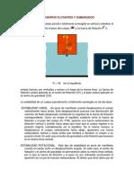 ESTABILIDAD DE CUERPOS FLOTANTES Y SUMERGIDOS