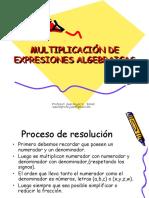 MULTIPLICACION DE EXPRESIONES ALGEBRAICAS