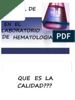 control de caliada hematologia 1