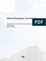 ASM Performance Test Report