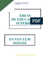 AREA DE EDUCACIÒN SUPERIOR, BLOQUES Y CARRERAS