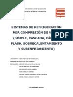 SISTEMAS DE REFRIGERACIÓN POR COMPRESION DE VAPOR. (1)