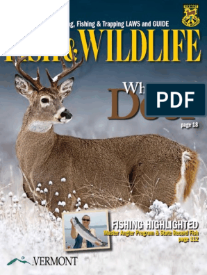 2011 Vermont Guide to Hunting Fishing & Trapping Laws (no