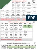 Revised Worcester Public Schools Remote Schedule
