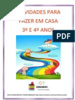 ATIVIDADES PARA FAZER EM CASA PDF
