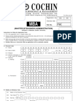 SCMS - MBA Form